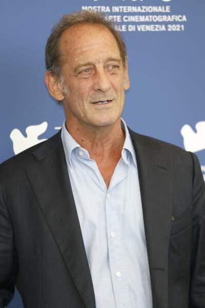 """L'acteur Vincent Lindon au photocall du film """"Un autre monde"""" à Venise"""