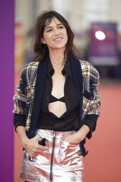 Charlotte Gainsbourg souriante lors de la 47éme édition du Festival du Cinéma Américain de Deauville le 10 septembre 2021.