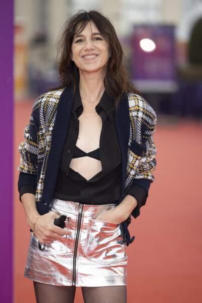 """Charlotte Gainsbourg président du jury, avant la première du film """"Dune"""" lors de la 47éme édition du Festival du Cinéma Américain de Deauville le 10 septembre 2021."""