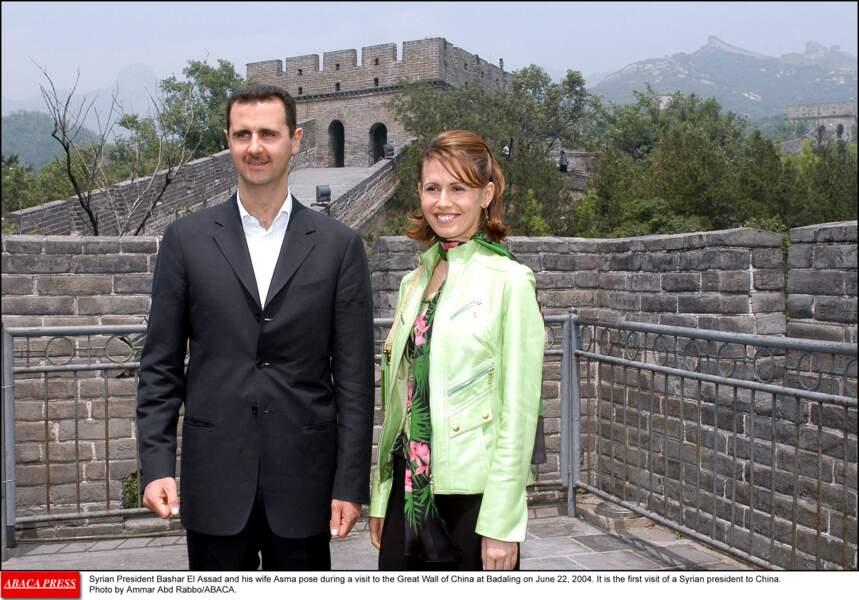 Bashar Al Assad et Asma Al Assad en Chine