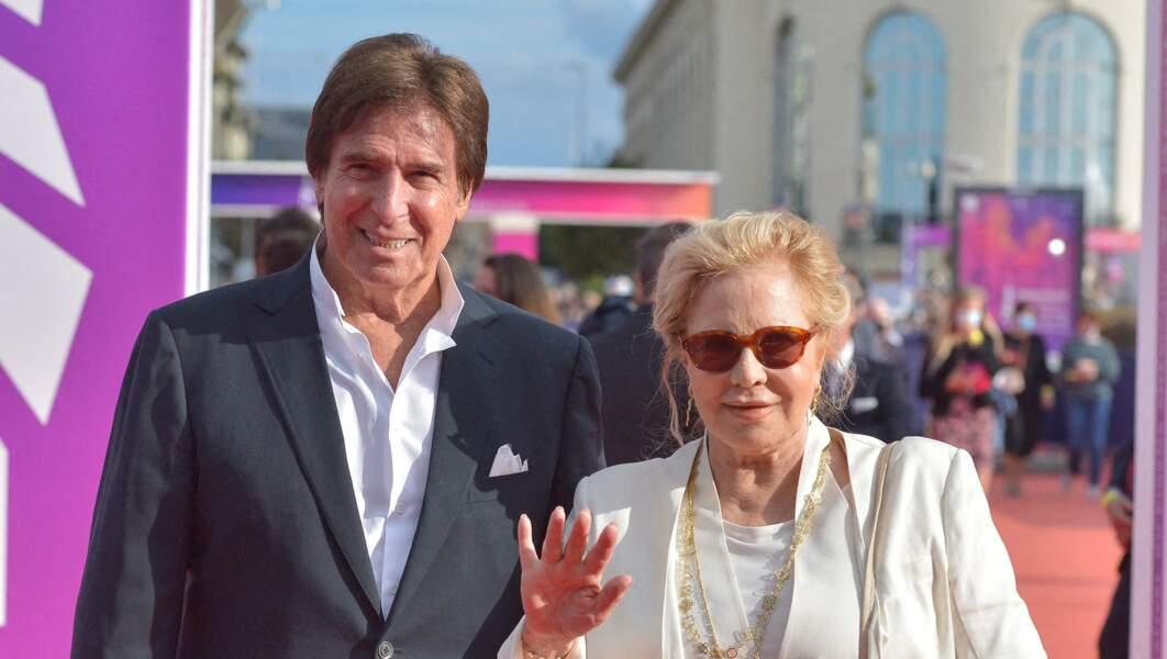 Sylvie Vartan et Tony Scotti lors de la cérémonie de clôture du 47e Festival de Deauville, le 11 septembre 2021.