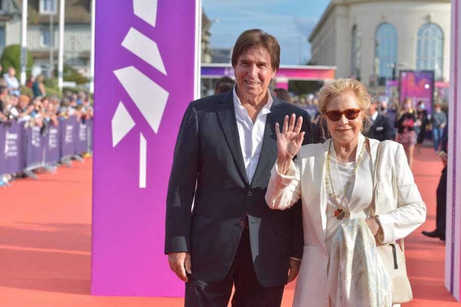 Sylvie Vartan et Tony Scotti étaient présents à la cérémonie de clôture du 47e Festival de Deauville.