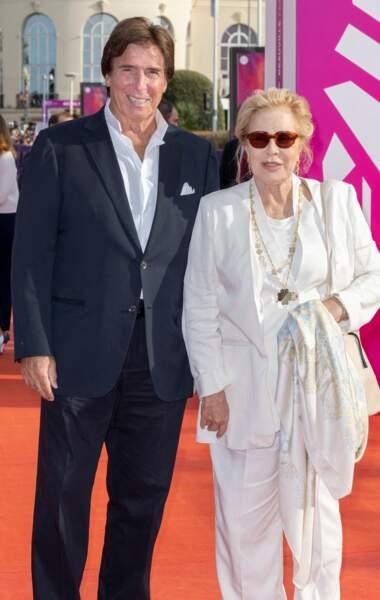 Sylvie Vartan et Tony Scotti au 47e Festival de Deauville, le 11 septembre 2021.