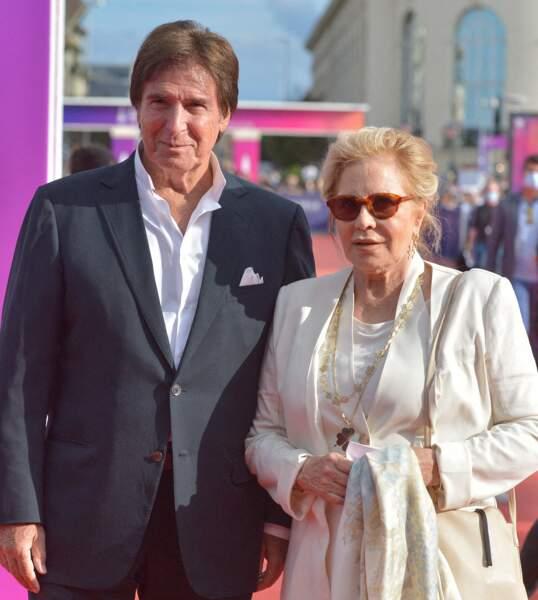 Sylvie Vartan et Tony Scotti sur le tapis rouge du 47e Festival de Deauville, le 11 septembre 2021.