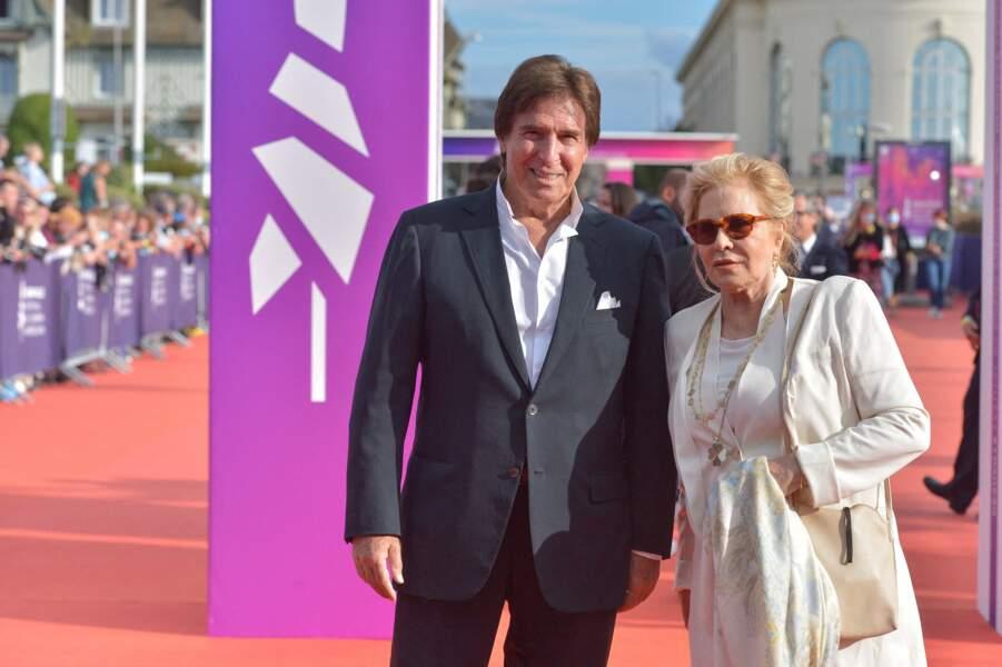 Sylvie Vartan et Tony Scotti lors du 47e Festival de Deauville, le 11 septembre 2021.