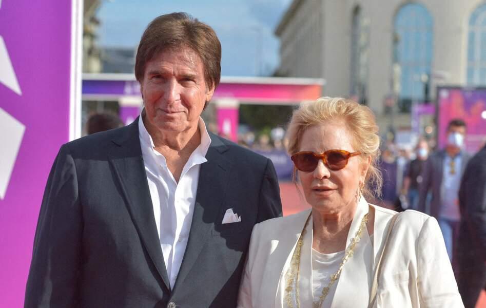 Sylvie Vartan et Tony Scotti lors de la cérémonie de clôture du 47e Festival de Deauville.