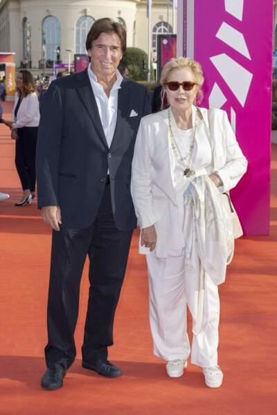 """Sylvie Vartan et Tony Scotti juste avant la première du film """"Les choses humaines"""" au Festival de Deauville."""