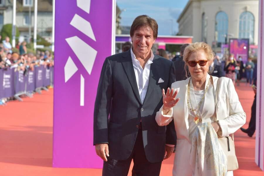 Sylvie Vartan et Tony Scotti sont arrivés pour le dernier jour du 47e Festival de Deauville, le 11 septembre 2021.