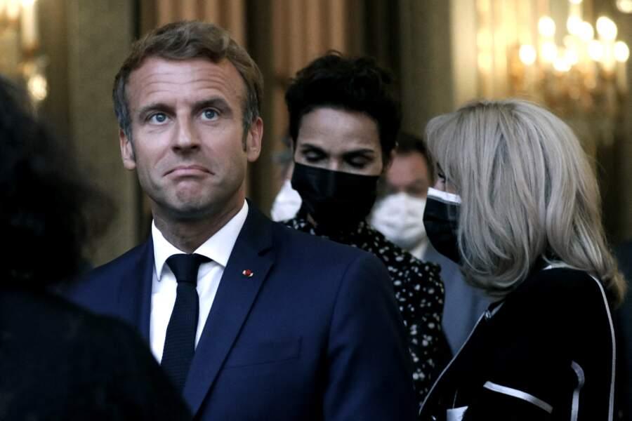 Emmanuel Macron a inauguré cette exposition à l'Élysée le 13 septembre, en présence de sa femme et de Farida Khelfa