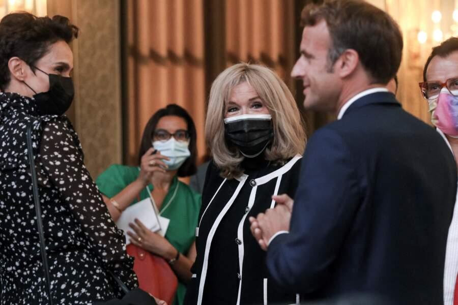 Farida Khelfa, actrice et mannequin icône des années 80, était également invitée à l'évènement à l'Élysée