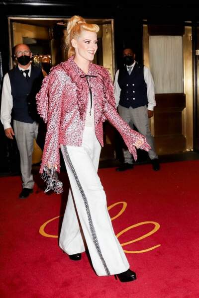 La frange courte et la queue de cheval haute de Kristen Stewart