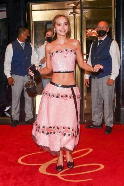 Le chignon de Lily-Rose Depp