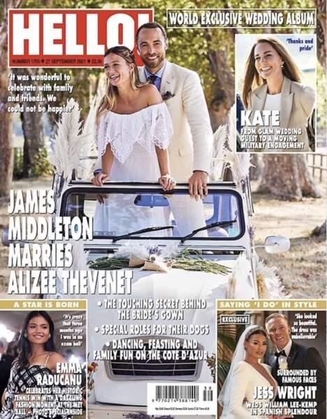 Alizée Thevenet portait la robe de mariée de sa belle-mère, Carole Middleton, pour épouser James Middleton