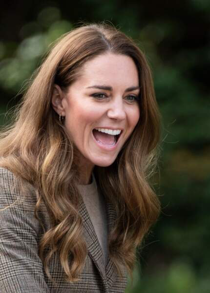 Kate Middleton arbore les cheveux plus longs que jamais le 21 septembre 2021.