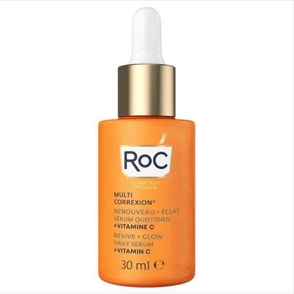 Sérum Quotidien Renouveau + Eclat Vitamine C Multi Correxion, Roc, 34,99 €