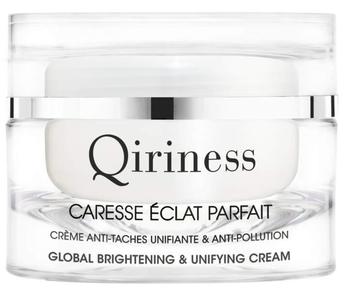Caresse Eclat Parfait, Crème Anti-Taches Unifiante Anti-Pollution, Qiriness, 54,90 €