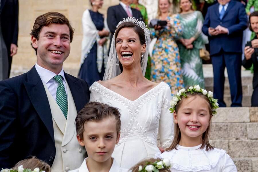 La princesse Marie-Astrid de Liechtenstein porte une robe confectionnée par Luisa Beccaria