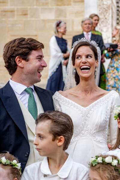 La princesse Marie-Astrid de Liechtenstein semble épanouie.