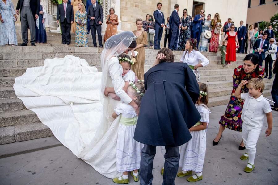Un mariage célébré dans la joie et la bonne humeur.
