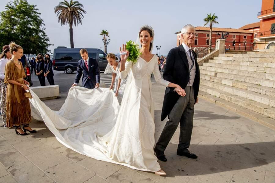 Au tour de la princesse Marie-Astrid de Liechtenstein de faire son apparition.