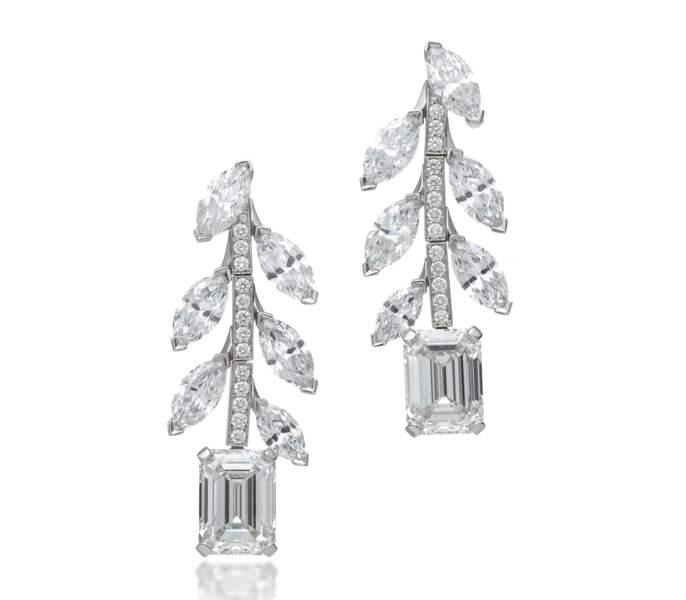 Boucles d'oreilles en platine et diamants Tiffany & Co