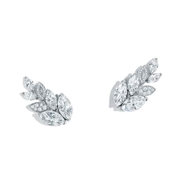 Boucles d'oreille en platine et diamants Tiffany & Co