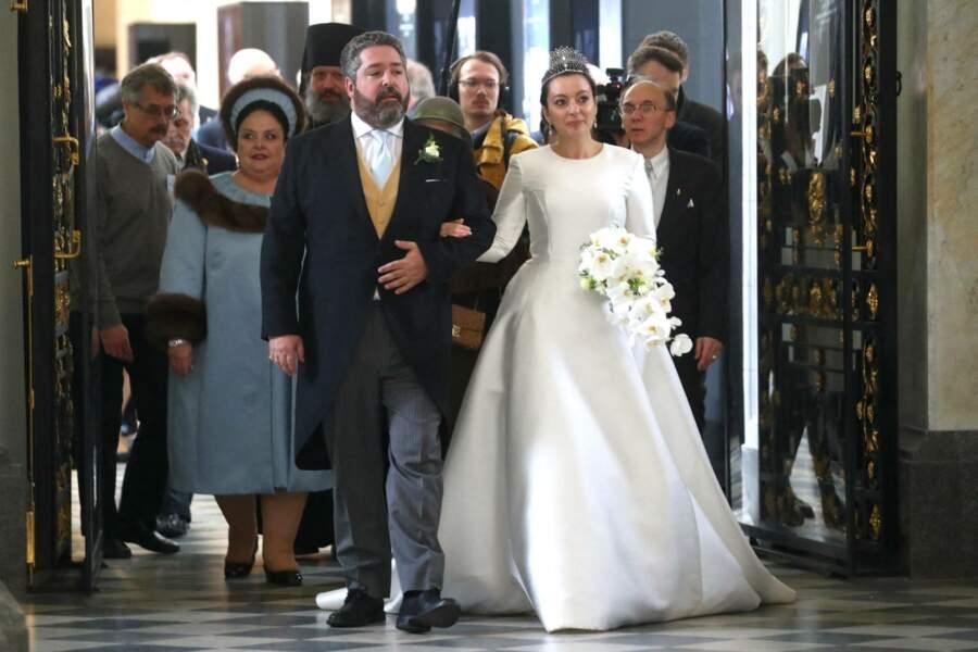 Entourés de leurs proches, grand-duc George Mikhailovich de Russie et Rebecca Victoria Bettarini d'Italie ont vécu le plus beau jour de leur vie, en la cathédrale Saint-Isaac de Saint-Pétersbourg, le 1er octobre 2021.