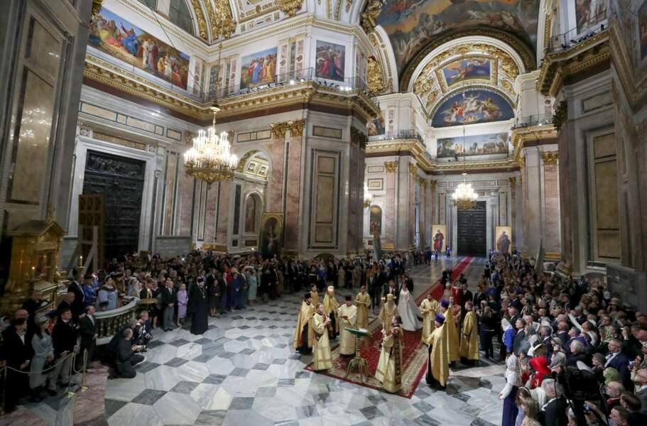 Plus de cent après le dernier mariage royale, la ville de Saint-Pétersbourg a pris des allures de fête pour célébrer le mariage du grand-duc de Russie avec Rebecca Victoria Bettarini, dans la cathédrale Saint-Issac, le 1er octobre 2021.