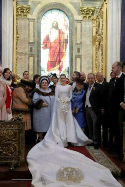 Pour cet événement, tous les proches du grand-duc George Mikhailovich de Russie et de Rebecca Victoria Bettarini ont tenu à être présents et à féliciter les jeunes mariés, le 1er octobre 2021.