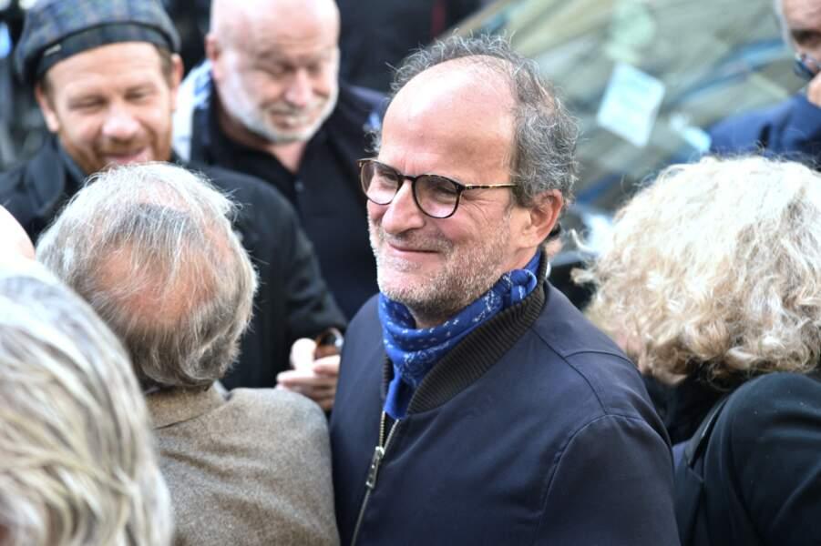 Lionel Abelanski  était présent pour rendre un dernier hommage à François Florent, lors de ses obsèques en l'église Saint-Roch, à Paris, le 4 octobre 2021.