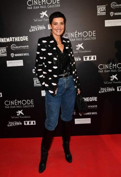 Cristina Cordula - Visite privée de l'exposition Cinémode par Jean-Paul Gaultier à la cinémathèque française