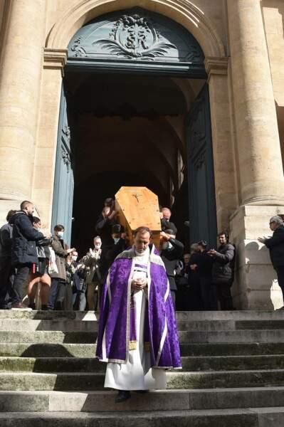 L'émotion était omniprésente lors des obsèques de François Florent, à l'église Saint-Roch, à Paris, ce 4 octobre 2021.