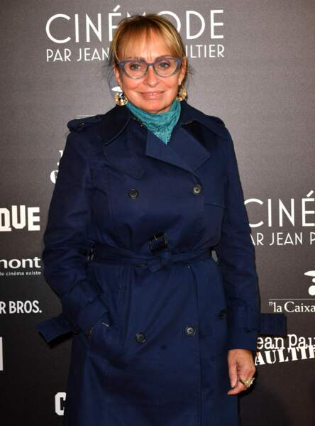 La fille d'Agès Varda, Rosalie Varda, lors du vernissage de l'expo Cinémode Jean Paul Gaultier