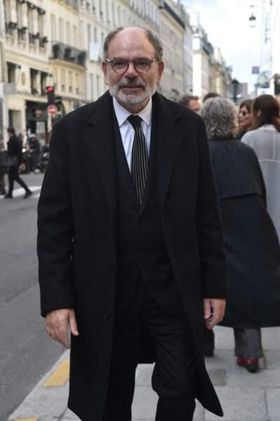 Jean-Pierre Darroussin a accompagné François Florent dans son dernier voyage lors de ses obsèques en l'église Saint-Roch, à Paris, le 4 octobre 2021.