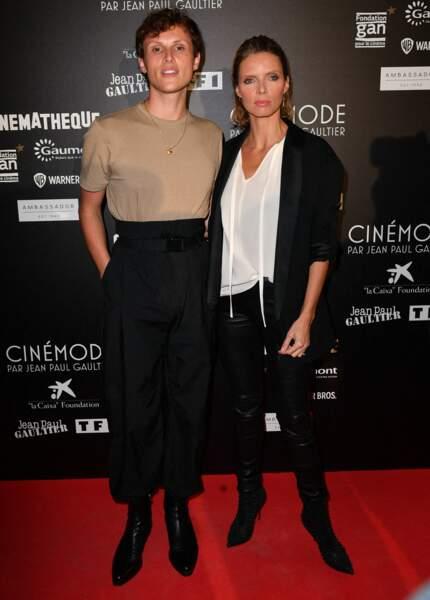Alexandre Wetter, le héros du film Miss, et Sylvie Tellier à la cinémathèque pour l'expo Jean Paul Gaultier