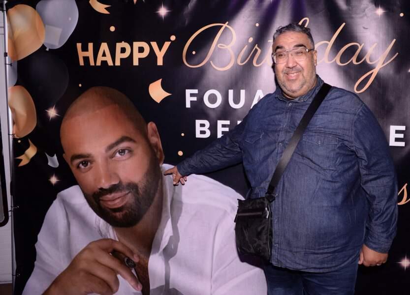 Le comédien Wahid à la soirée d'anniversaire de Fouad Ben Kouider, à Paris le 2 octobre 2021.