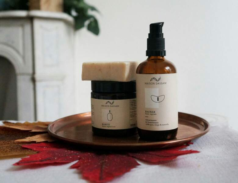 Maison Dassam, marque de cosmétiques naturels éthiques et écoresponsables, sur maisondassam.com