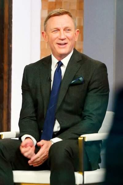 """Daniel Craig participe à l'émission """"Good Morning America"""" pour la promotion du nouvel opus de James Bond, """"Mourir peut attendre"""", à New York, le 4 octobre 2021"""
