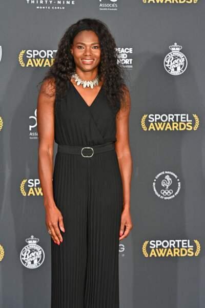 Mais le prince a pu croiser la célèbre athlète française Muriel Hurtis.