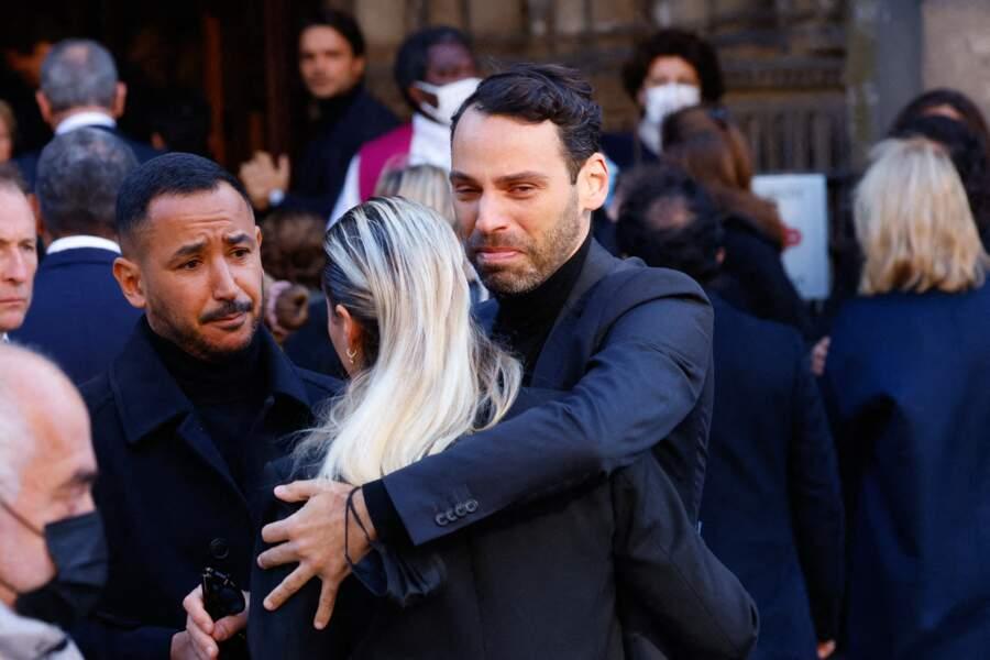 Sophie Tapie arrive à la messe funéraire en hommage à Bernard Tapie en l'église Saint-Germain-des-Prés à Paris, le 6 octobre 2021
