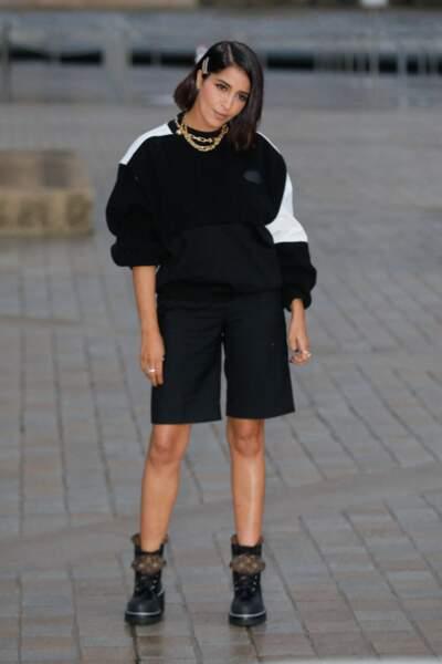 Leïla Bekhti au défilé Louis Vuitton printemps-été 2022