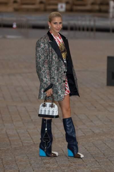 Caroline Daur au défilé Louis Vuitton printemps-été 2022Daur