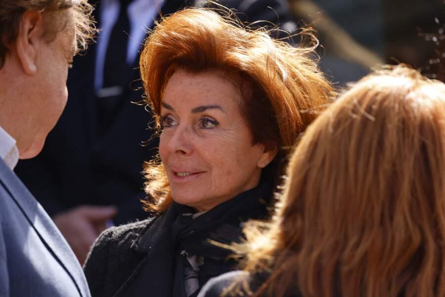 Dominique Tapie lors de la messe funéraire en hommage à Bernard Tapie en l'église Saint-Germain-des-Prés à Paris, le 6 octobre 2021