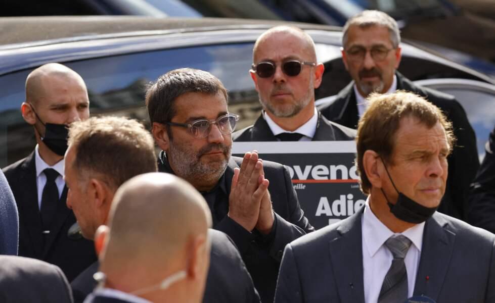 Stéphane Tapie lors de la messe funéraire en hommage à Bernard Tapie en l'église Saint-Germain-des-Prés à Paris, le 6 octobre 2021