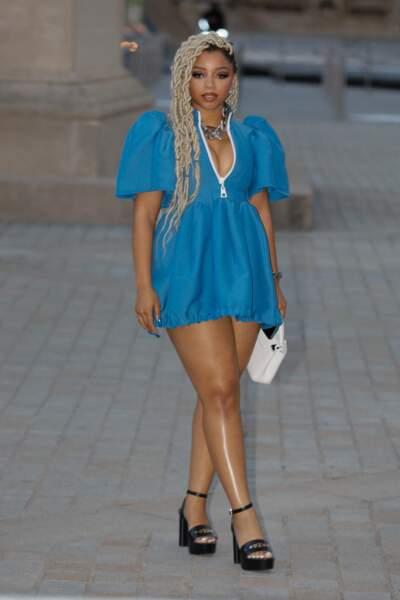 Chloe Bailey au défilé Louis Vuitton printemps-été 2022