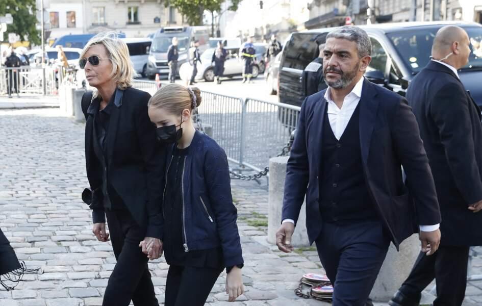 Ramzi Khiroun arrive à la messe funéraire en hommage à Bernard Tapie en l'église Saint-Germain-des-Prés à Paris, le 6 octobre 2021