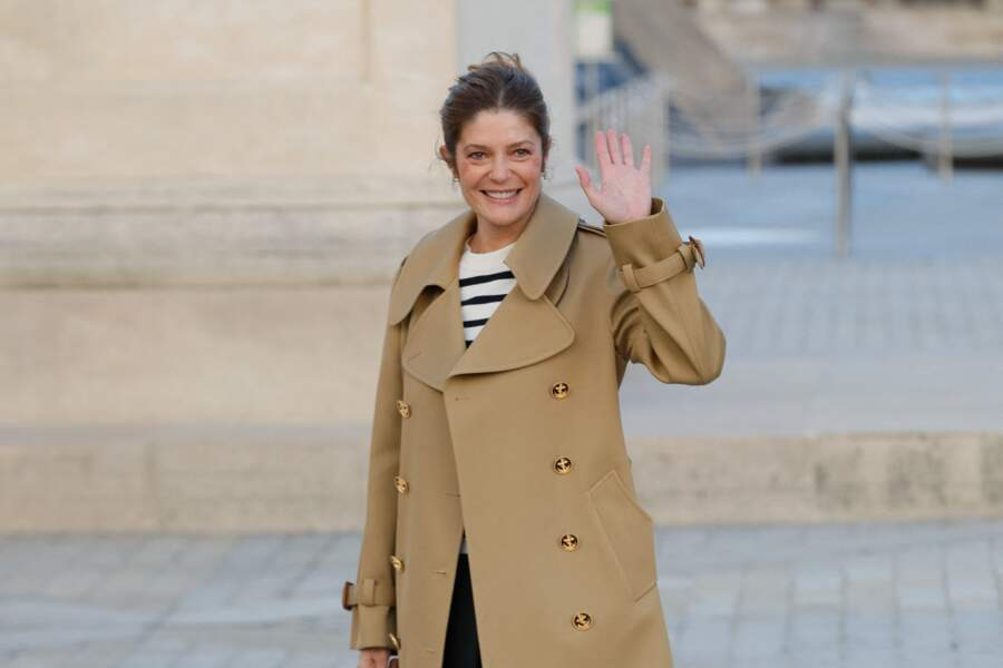 Chiara Mastroianni au défilé Louis Vuitton printemps-été 2022