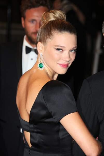 Lea Seydoux fan du bun à Cannes en mai 2013