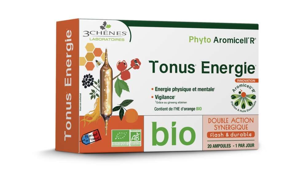 Phyto Aromicell'R® Tonus Energie (20 ampoules, 1 par jour); 3 Chênes Laboratoires; 16,90€ en pharmacies et parapharmacies