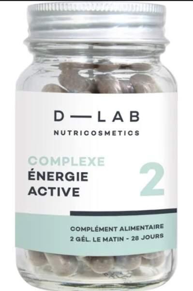 Complexe Énergie Active (2 gélules le matin, sur 28 jours); D-Lab; 22,80€ sur dlabparis.com